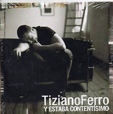 TIZIANO FERRO CD single PROMO 1 traccia 2006 Y ESTABA CONTENTISIMO sigillato EU