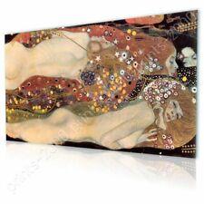 READY TO HANG CANVAS Water Serpents Snakes Gustav Klimt Framed Decor