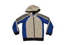 Kinder Adidas Essential FZ Kapuzenpulli - S12293 - grau königsblau schwarzer