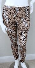 Yummy Plus Leopard Animal Print Stretch Leggings - Tan & Black - 1X 2X 3X - New!