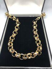 Boys Kids Womens 18k Gold Filled Belcher Chain Necklace Bracelet Sets 18ct curb