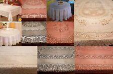 100% PVC Vinyle Rouge Blanc en dentelle vintage en relief motif floral en plastique Table Nappe Fête