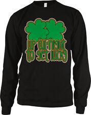 Up All Night to Get Lucky Irish Pride Shamrock Ireland Patrick's Men's Thermal