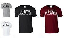 I love my wife T SHIRT FUNNY Coeur Cadeau Saint Valentin mari (Femme, tshirt)