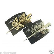 Long papillon metal concorde bec barrette à cheveux adhérence crocodile alligator hair clip