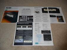 Sansui Tuner Brochure, TU-919, Specs, Info, Pics, NICE!