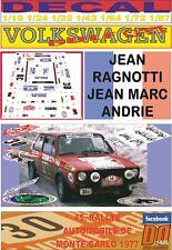 DECAL VOLKSWAGEN GOLF GTI MKI J. RAGNOTTI R.MONTECARLO 1977 18th (07)