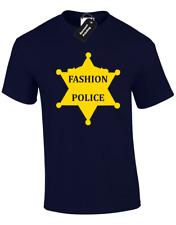 FASHION POLICE MENS T-SHIRT FUNNY FASHION PRINTED DESIGN KYLIE CARA KIM SWAG