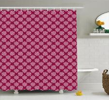 Renaissance Pattern Shower Curtain Fabric Decor Set with Hooks 4 Sizes