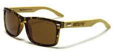 BeOne POLARIZED Unisex Real BAMBOO WOOD 100% UV 400 Sunglasses w/ FREE CASE