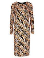New M&S LIMITED EDITION Paisley Print Bodycon Dress Sz UK 6 & 12