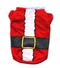 Animalerie vêtement costume déguisement tee-shirt pour chien Père Noël