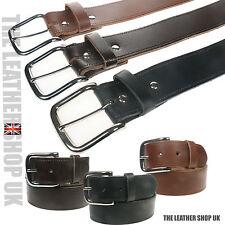 para hombre o Mujer Hecho en GB 40mm grano PLENO Cuero Auténtico cinturones &