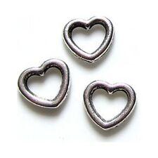 Connecteurs entre-deux _ Coeur 10x11x2mm _ Perles apprêts création bijoux _ A201