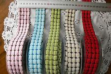 CHENILLE 3 Wide DOT Ribbon 5 Colours 3&4cmWide Metre Lengths MayArts MultiListBR