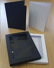 "7"" x 10"" Aperture Greeting Card Box and CardBlank Black or White Choose Quantity"