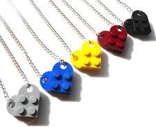 INTERLOCKING LEGO ® HEART NECKLACES - GIFT PRESENT - STUNNING - UNIQUE