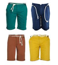 Eleven Paris Men's Detachable Rope Belt Chino Shorts