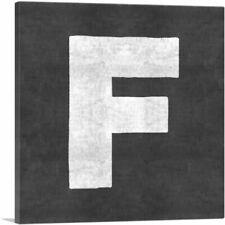 ARTCANVAS Chalkboard Alphabet Letter F Canvas Art Print
