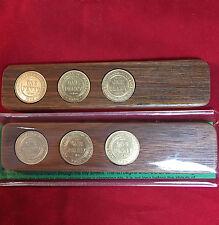 1935 Birthday Gift Anniversary Present Jarrah Two-Up Game  w/three pennies