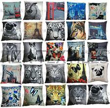 Designer Cushion Covers, Photo Print Animal City Scatter Cushions, 43x43 cm