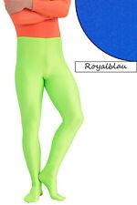 Herren Leggings mit Fuss royalblau Voltigierhose Glanz elastisch Größen S - XL