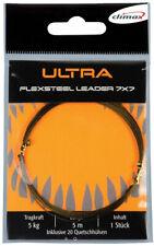 Climax Ultra Flexsteel Leader 7x7 (5m + Klemmhülsen) 5 - 20kg Seewasser tauglich