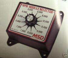 MSD RPM CHIP SELECTOR 8672 USE W/6AL 7AL CHEVY FORD MOPAR 6,000 TO 8,200 RPM
