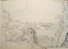ITALY SORRENTO FROM ANTONIO  PENCIL SIR GEO HODSON 1855