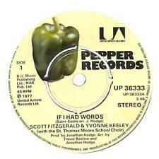 "Scott Fitzgerald & Yvonne Keeley - If I Had Words - 7"" Record Single"