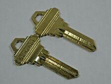 """2 Schlage Keys Original 5 Pin """"F"""" Key Blanks OEM"""