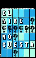 POSTER. El Aire nos cuesta.Cuban Documentary. Art. 1446.Decoration Design