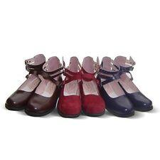dunkel blau rot braun lolita Shoes halb-Schuhe barock Ballerinas victorian neu