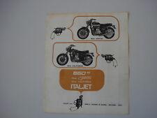 advertising Pubblicità 1970 MOTO ITALJET 650 GRIFON/CALIFORNIA
