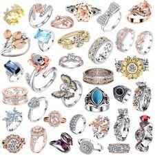 925 Fashion Girl Lady Brand silver Women band Wedding Rings Engagement Jewelry