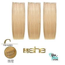 3 fasce extension clip SHE Easy 20 capelli veri umani lisci shatush 50 55 cm