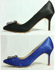 Women's Party Wedding High Heel Satin Shoes
