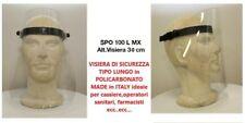 VISIERA PROTETTIVA Policarb.to Trasparente Made in Italy in 2 Lunghezze 19 e 30