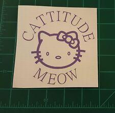 CATTITUDE Hello Kitty custom Vinyl Car window Tool Box Car Bumper Tablets Home