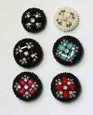 Extra large à perles dôme bouton avec diamants gems # 15 taille: 50L, 40L