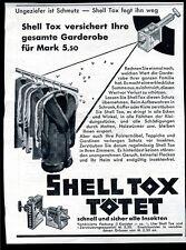 Shell -Tox tötet--schnell und sicher-gesamte Garderobe -Werbung 1930