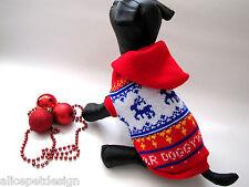 Exklusiver Hundepullover Elch Geschenk Winter Weihnachten Hund Pullover Katze