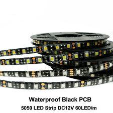 12V Black PCB 1-5m Waterproof Car Light Flexible strip Light 5050 SMD  tape Lamp