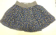Ladies Aeropostale Gray Blue Black Leopard Print Skirt Juniors SIzes XS, S, M, L