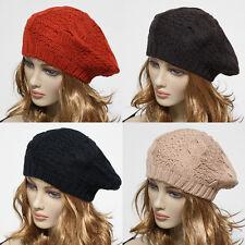 Knit Beret Crochet Rasta Women's Oversized Beanie Winter Hat Ski Chic Cap Skull