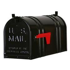 Black Steel Mailbox Postal Pro US Mail Box Double Door Post Mount New PP152DB