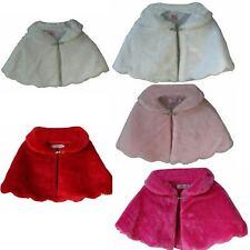 Baby -Toddler Girls Faux Fur Scalloped Edge Bolero Cape