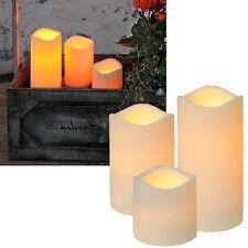 LED Kerze für Außen mit Timer / flackernde  flammenlose Kerzen flackernd Outdoor