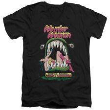 DC Comics Jaws Mens Adult V-Neck T Shirt Black