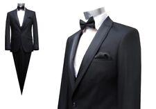 Hochzeitsanzug Schwarz mit Fliege und Weste*2741*